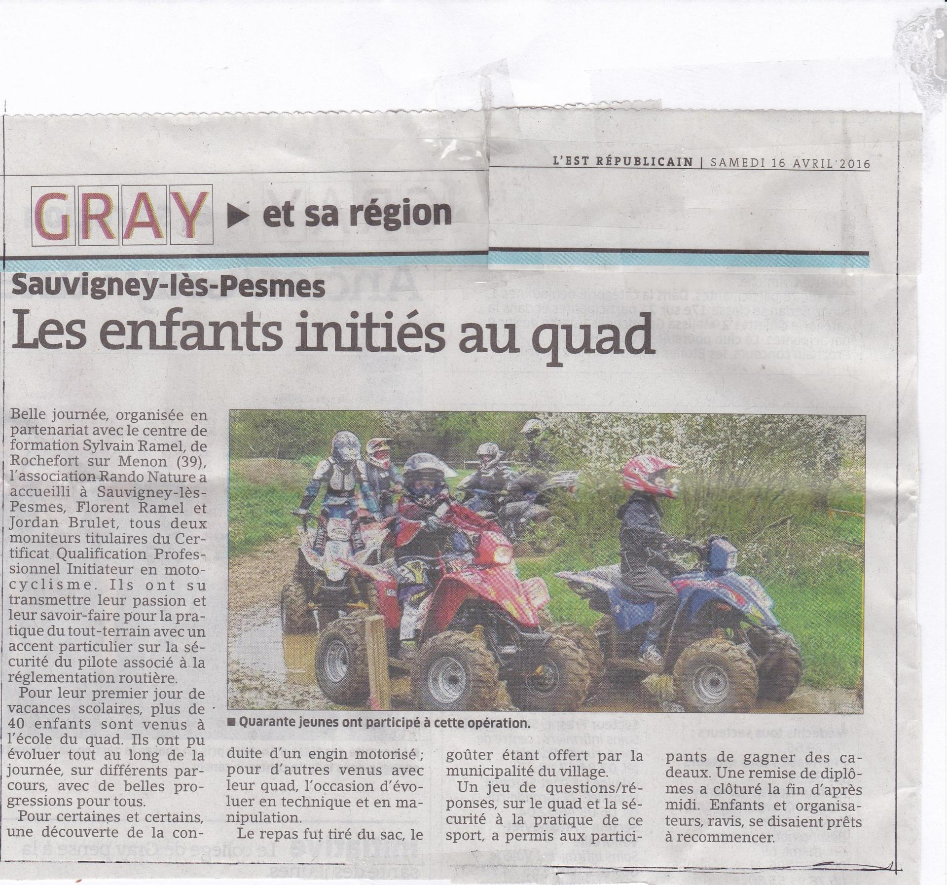 Article quad enfant e r